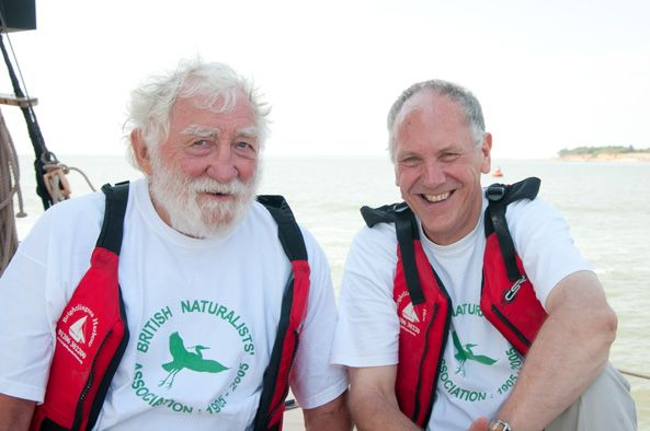 On 9th October 2018 Roger Tabor was made President of the British Naturalists' Asociation after David Bellamy on reaching 85 had retired from the position. (Picture of David (L) & Roger (R) taken in 2014 at a BNA event).